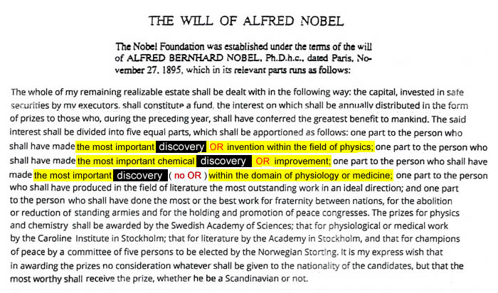The Will of Alfred Nobel