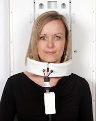 A solenoid (wrap-around) coil is used for a cervical spine scan