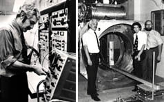 Raymond V. Damadian, MD, conducted experiments and discovered that the various normal tissues and cancer tissue emit different radio signals when exposed to a magnetic field. He went on to build the first whole-body magnetic resonance scanner and to achieve the first MRI scan of the human body.